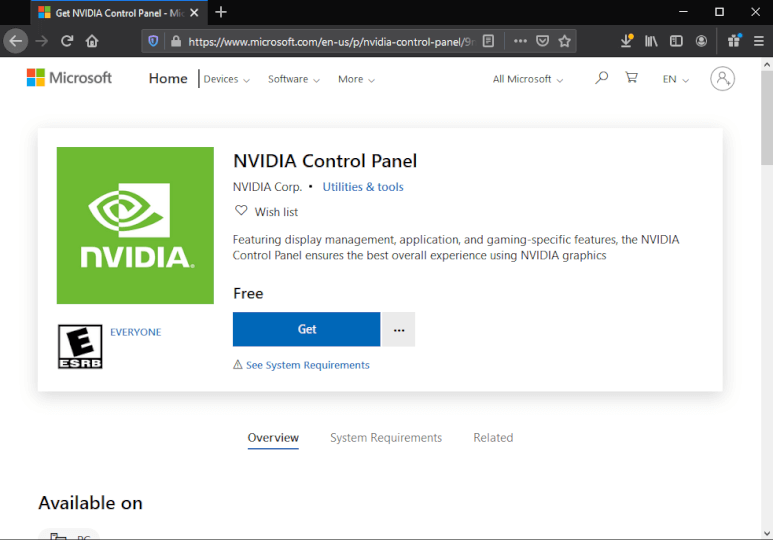 How to get NVIDIA control panel?